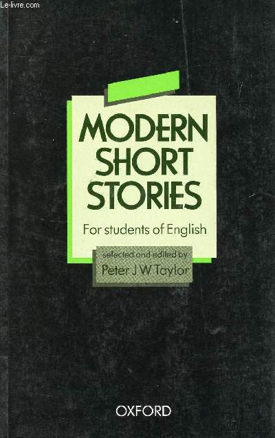 MODERN SHORT STORIES, FOR STUDENTS OF ENGLISH