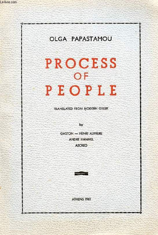 PROCESS OF PEOPLE