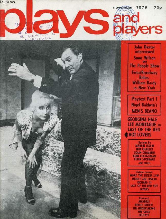 PLAYS AND PLAYERS, VOL. 27, N° 2 (314), NOV. 1979 (Contents: The sense of the sublime Snoo Wilson The struggle John Dexter Empty entertainment and Broadway Babes (New York) William A Raidy Reviews Amadeus Bitter Apples Carnival War a Go Hot Ecstasy...)