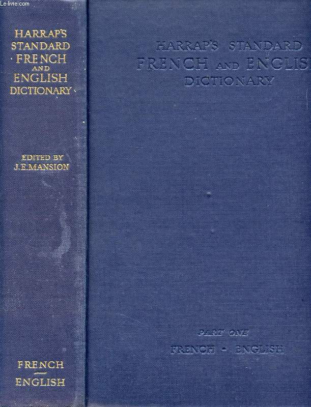 HARRAP'S STANDARD FRENCH AND ENGLISH DICTIONARY, 2 VOLUMES (FRENCH-ENGLISH, ENGLISH-FRENCH)