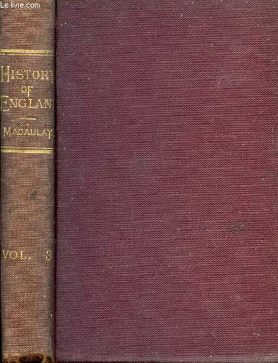 THE HISTORY OF ENGLAND FROM THE ACCESSION OF JAMES II, VOL. III
