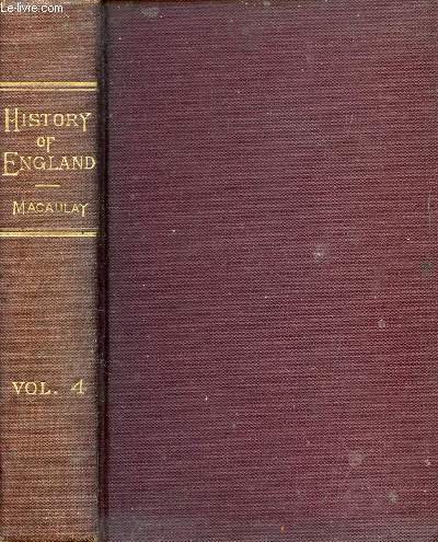 THE HISTORY OF ENGLAND FROM THE ACCESSION OF JAMES II, VOL. IV