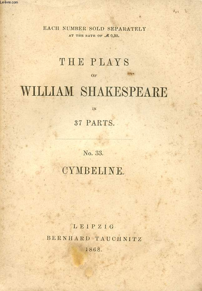 CYMBELINE (THE PLAYS OF WILLIAM SHAKESPEARE, N° 33)
