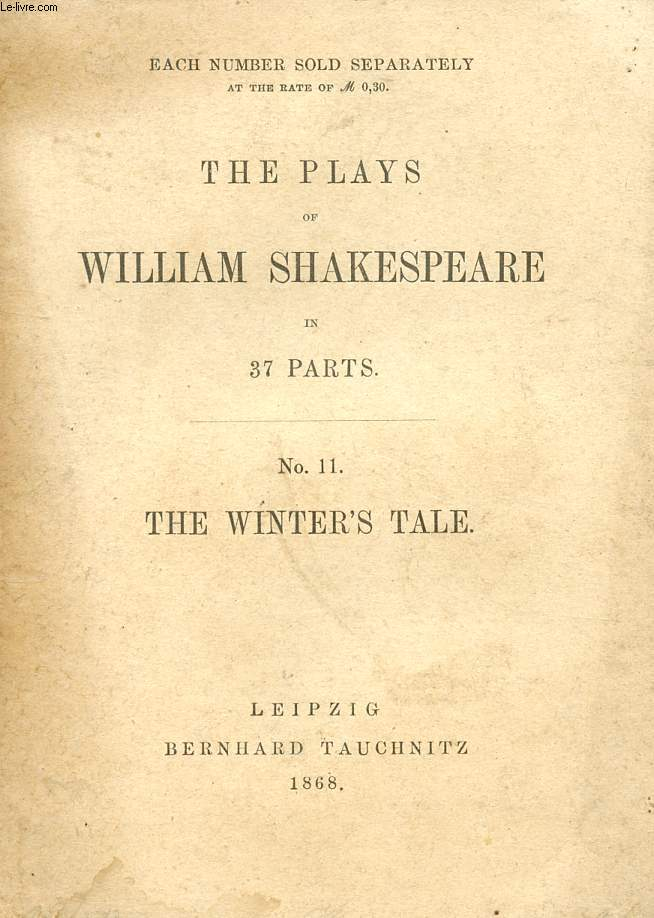 THE WINTER'S TALE (THE PLAYS OF WILLIAM SHAKESPEARE, N° 11)