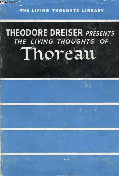 THE LIVING THOUGHTS OF THOREAU