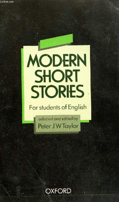MODERN SHORT STORIES FOR STUDENTS OF ENGLISH