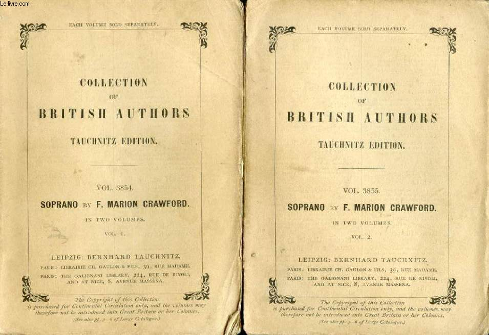 SOPRANO, 2 VOLUMES (COLLECTION OF BRITISH AND AMERICAN AUTHORS, VOL. 3854-3855)