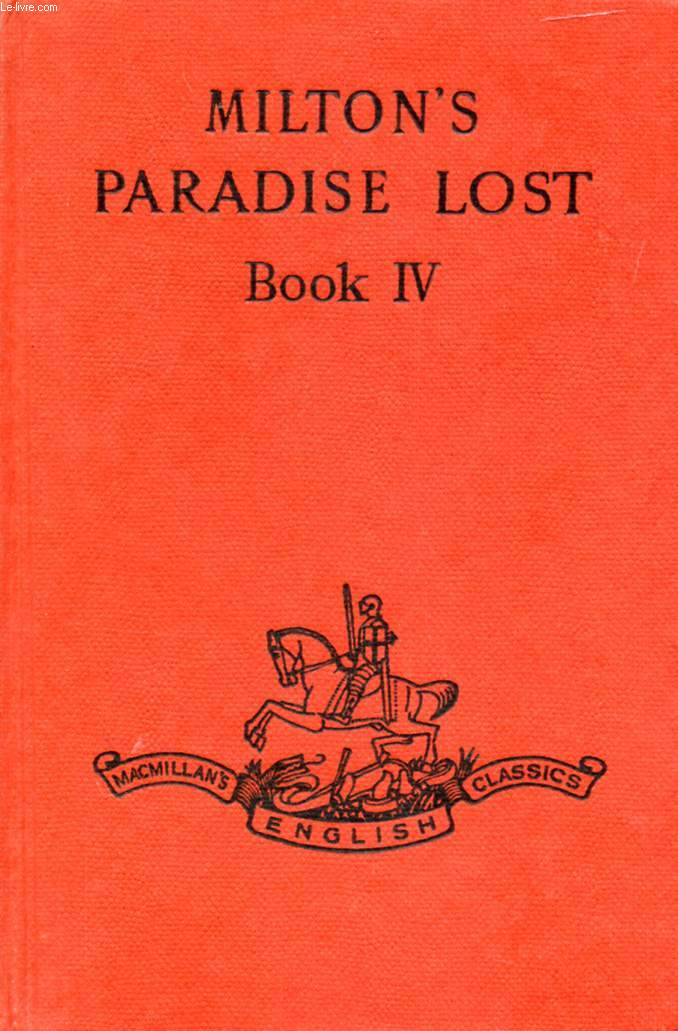 PARADISE LOST, BOOK IV