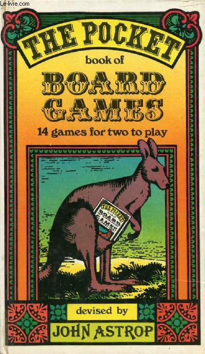 THE POCKET BOOK OF BOARD GAMES, 14 GAMES FOR TWO TO PLAY
