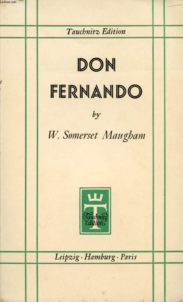DON FERNANDO, OR VARIATIONS ON SOME SPANISH THEMES
