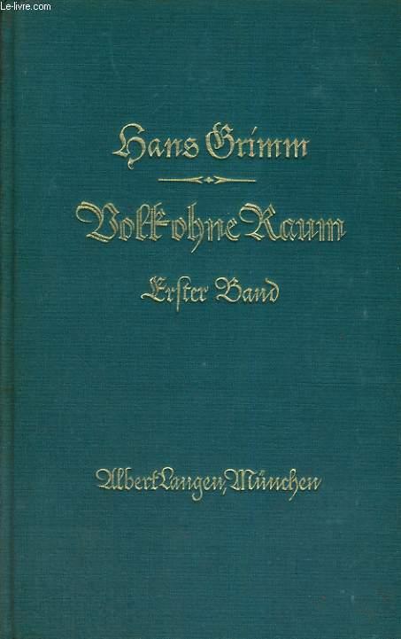 VOLK OHNE RAUM. ERSTER BAND. 5SECHSTES BIS ZEHNTES TAUSEND)