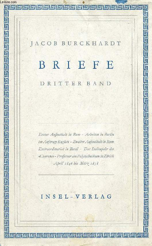 BRIEFE, DRITTER BAND
