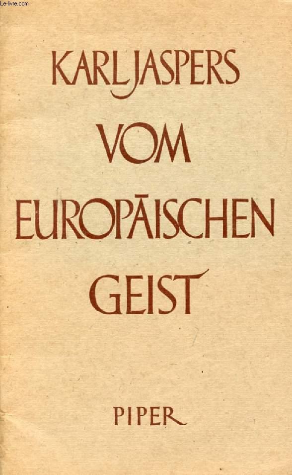 VOM EUROPÄISCHEN GEIST