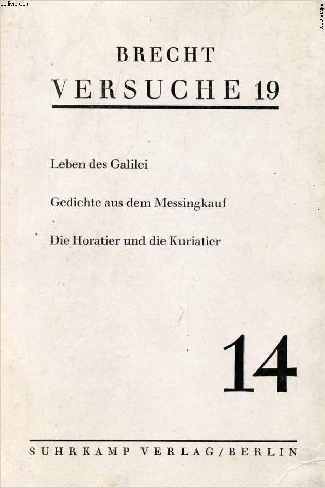 VERSUCHE 19, Nr. 14 (Inhalt: Leben des Galilei, Gedichte aus dem Messingkauf, Die Horatier und die Kuriatier)