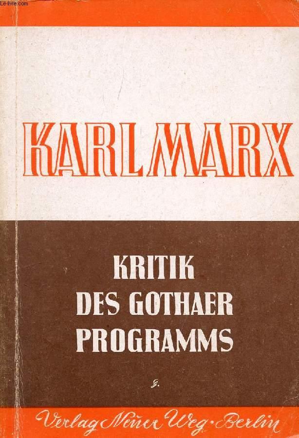 KRITIK DES GOTHAER PROGRAMMS