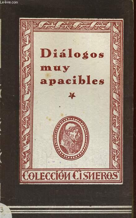 DIALOGOS MUY APACIBLES