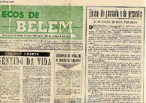 ECOS DE BELEM, N° 1478, AVENÇA, AÑO XXXII