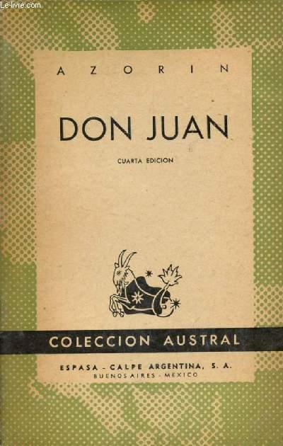 DON JUAN, COLECCIÓN AUSTRAL, N° 153