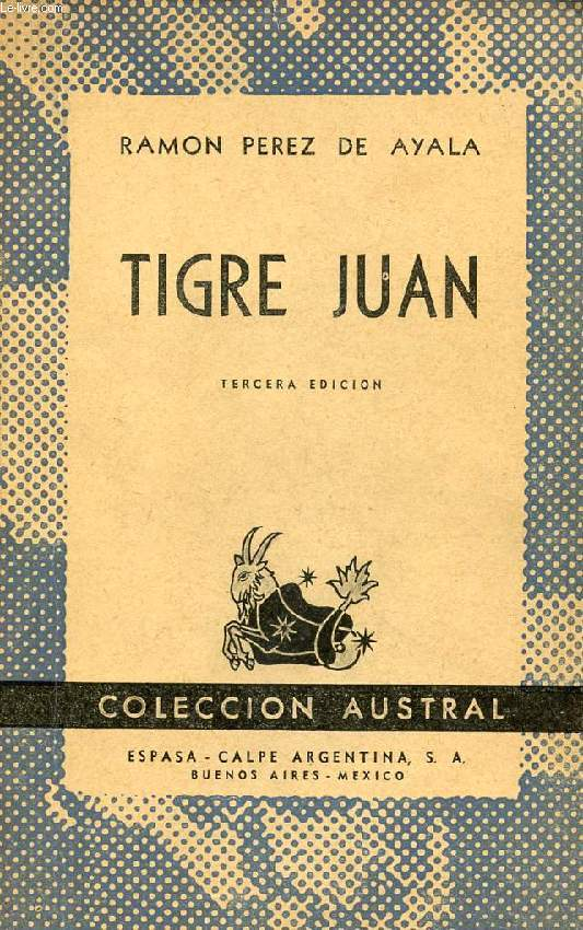 TIGRE JUAN, COLECCIÓN AUSTRAL, N° 198