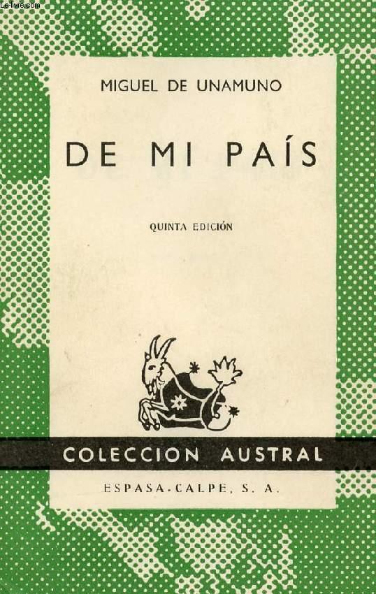 DE MI PAIS, COLECCIÓN AUSTRAL, N° 336