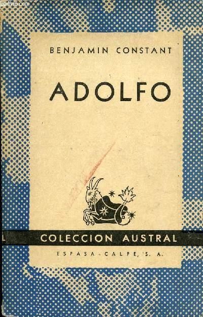ADOLFO, COLECCIÓN AUSTRAL, N° 938