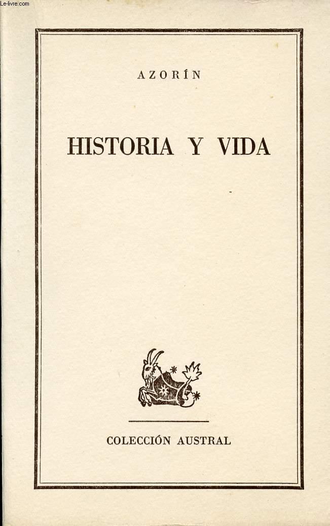 HISTORIA Y VIDA, COLECCIÓN AUSTRAL, N° 1314