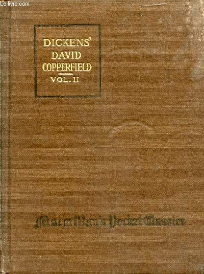 THE PERSONAL HISTORY AND EXPERIENCE OF DAVID COPPERFIELD THE YOUNGER (VOL. II)