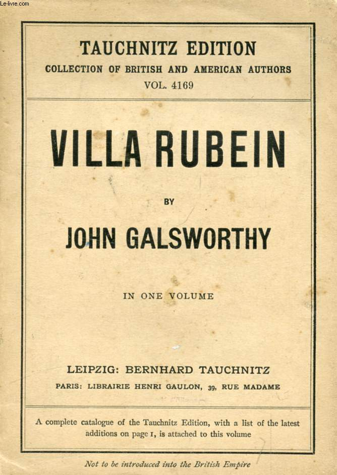 VILLA RUBEIN (COLLECTION OF BRITISH AND AMERICAN AUTHORS, VOL. 4169)
