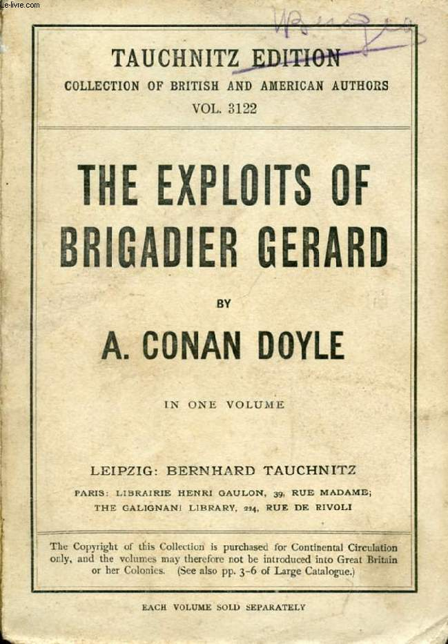 THE EXPLOITS OF BRIGADIER GERARD (COLLECTION OF BRITISH AND AMERICAN AUTHORS, VOL. 3122)
