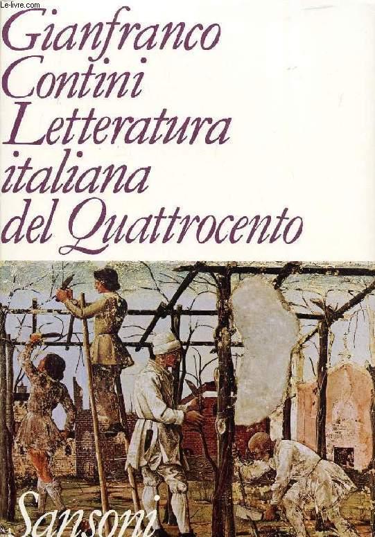 LETTERATURA ITALIANA DEL QUATTROCENTO
