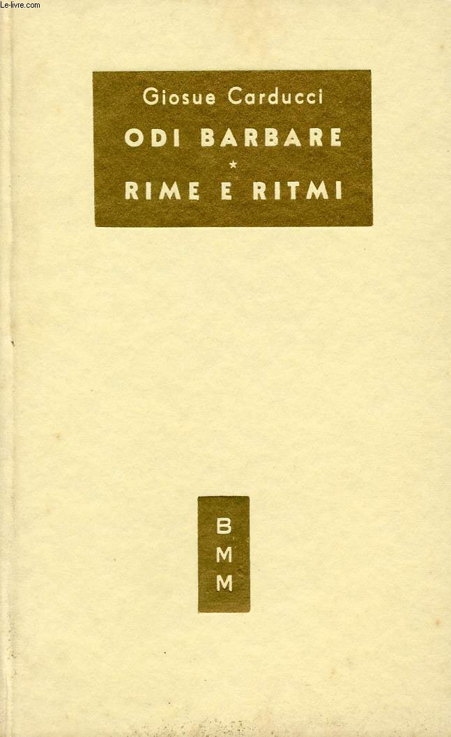 ODI BARBARE, RIME E RITMI