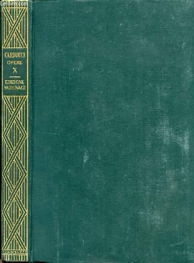 EDIZIONE NAZIONALE DELLE OPERE DI GIOSUE CARDUCCI, VOLUME X, DANTE