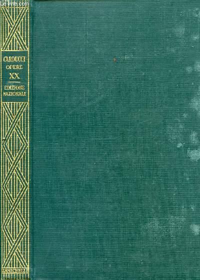 EDIZIONE NAZIONALE DELLE OPERE DI GIOSUE CARDUCCI, VOLUME XX, LEOPARDI E MANZONI