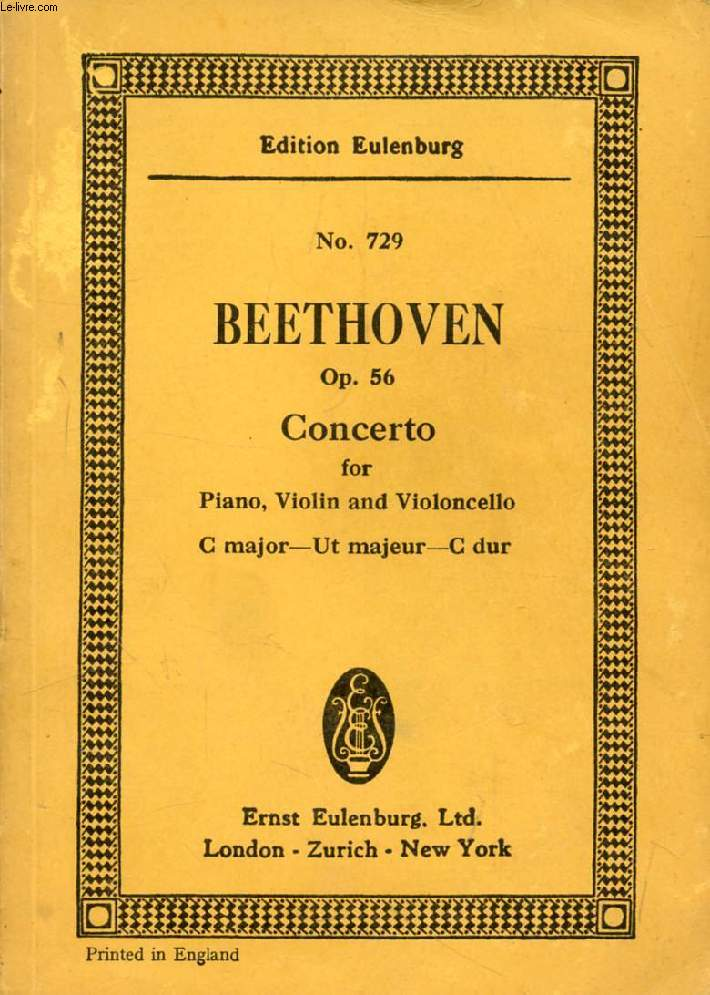 CONCERTO FOR PIANO, VIOLIN AND VIOLONCELLO, Op. 56