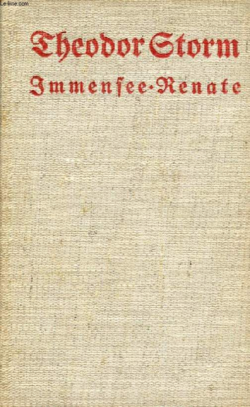 IMMENSEE, RENATE, Und Andere Novellen