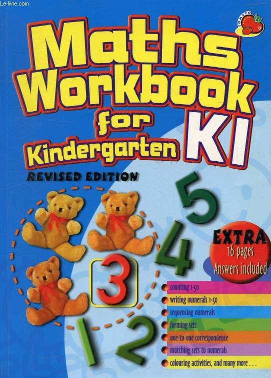 MATHS WORKBOOK FOR KINDERGARTEN KI