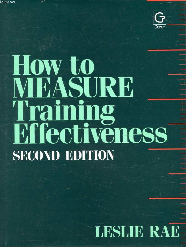 HOW TO MEASURE TRAINING EFFECTIVENESS