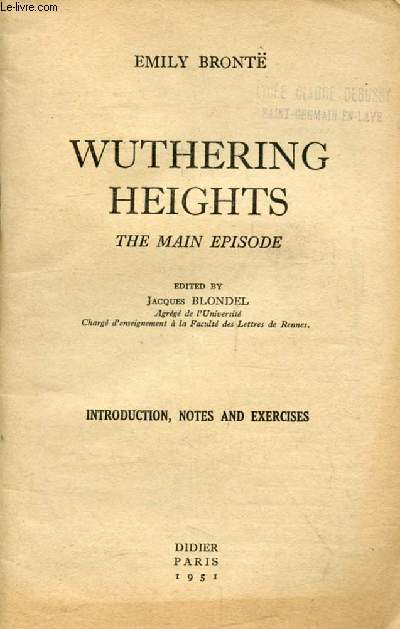 WUTHERING HEIGHTS, THE MAIN EPISODE