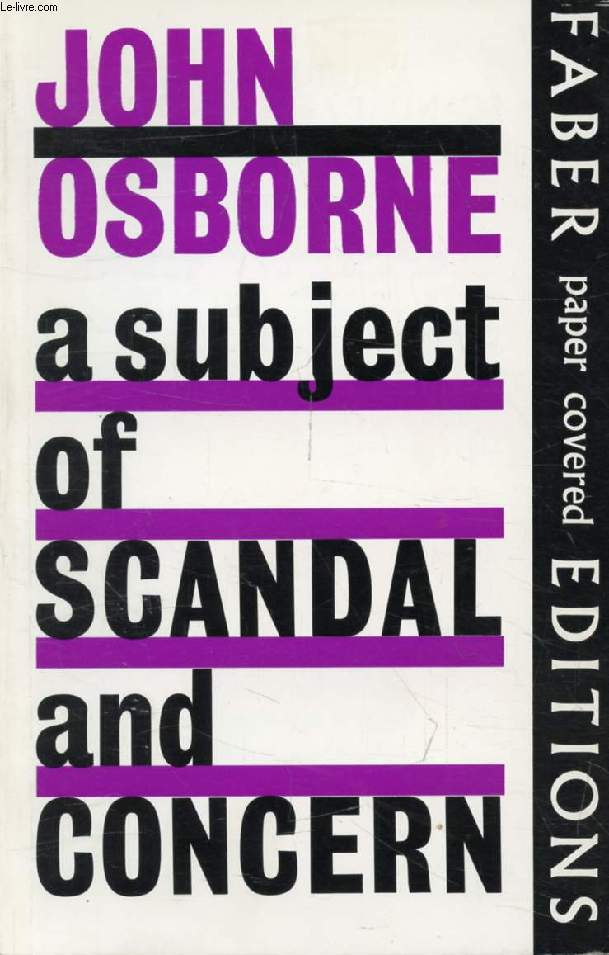 A SUBJECT OF SCANDAL AND CONCERN, A Play for Television