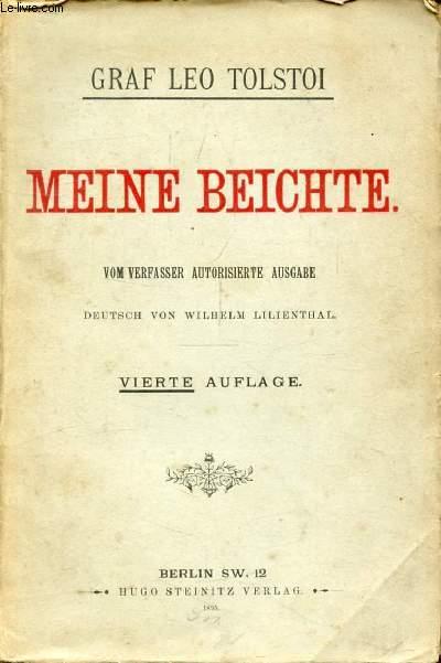 MEINE BEICHTE
