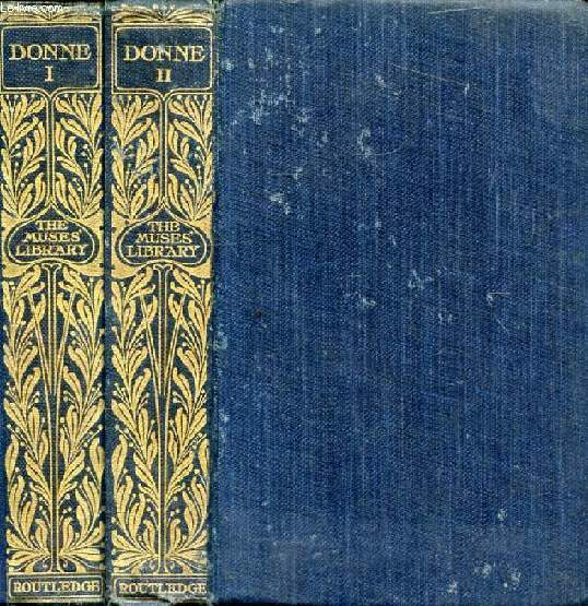 POEMS OF JOHN DONNE, 2 VOLUMES