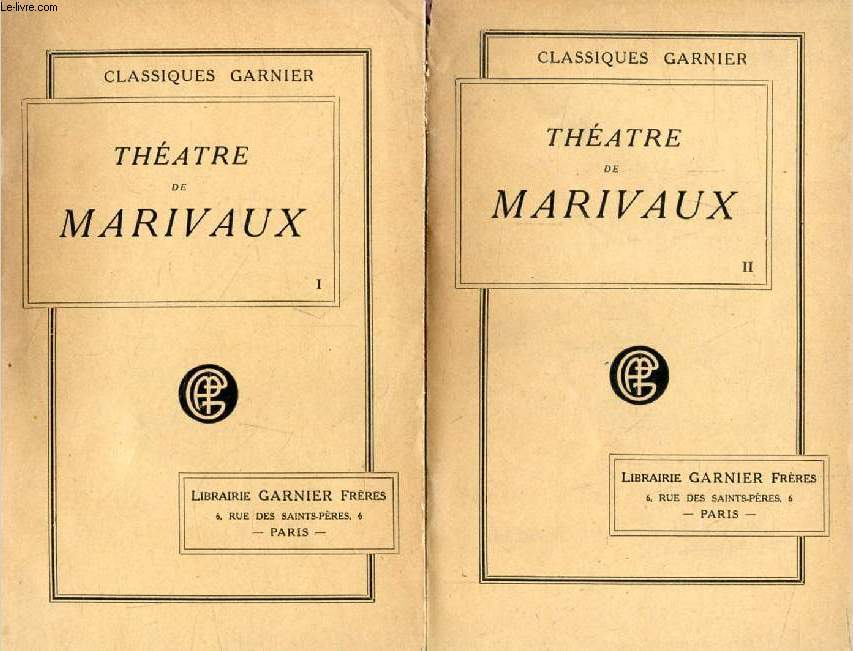 THEATRE DE MARIVAUX, 2 TOMES