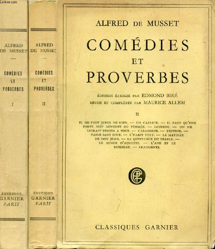 COMEDIES ET PROVERBES, 2 TOMES