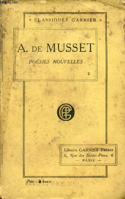 POESIES NOUVELLES (Oeuvres Complètes de Alfred de Musset, II)