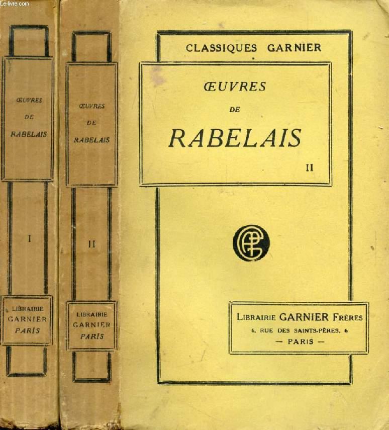 OEUVRES DE RABELAIS, 2 TOMES