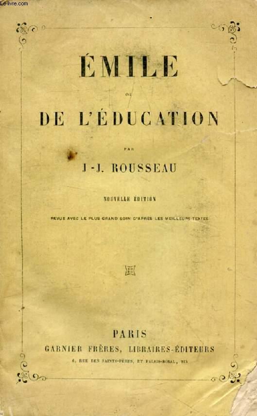 EMILE, OU DE L'EDUCATION