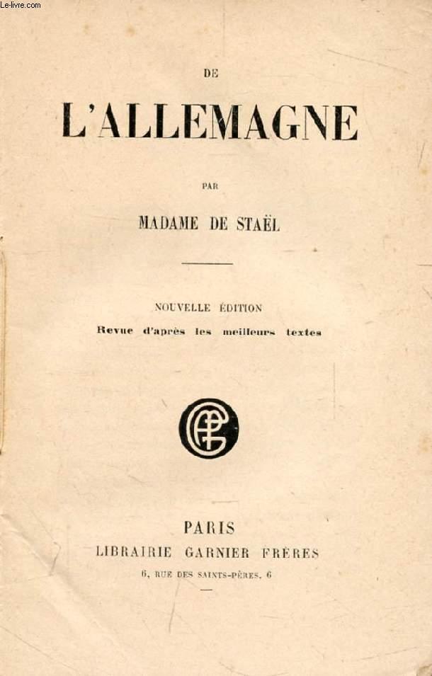DE L'ALLEMAGNE