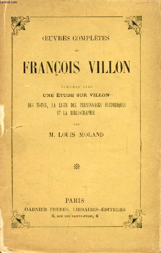 OEUVRES COMPLETES DE FRANCOIS VILLON