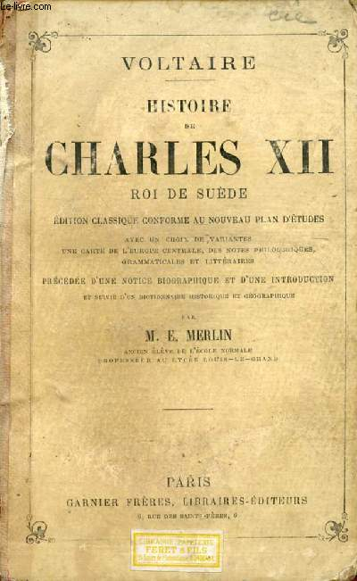 CHARLES XII, ROI DE SUEDE