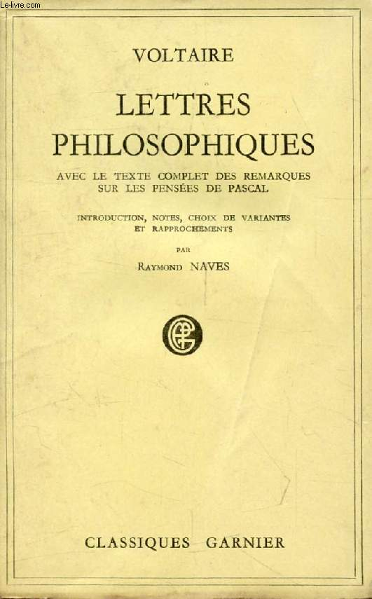 LETTRES PHILOSOPHIQUES, Ou Lettres Anglaises